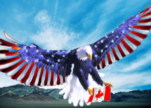 eagle usa canada Dans l'œil de l'aigle