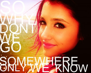 Ariana with Song Quotes - cat-valentine Fan Art