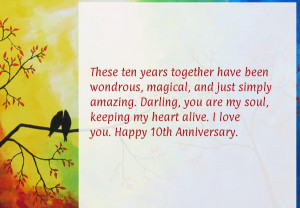 10 year wedding anniversary quotes