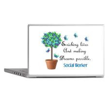 Social worker Butterfly Quote.PNG Laptop Skins for