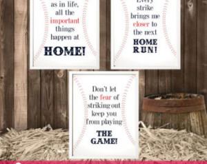 Baseball Quotes Wall Art - Baseball Nursery Decor ...