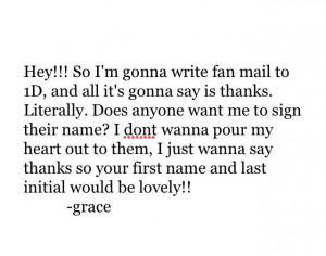 know this is kinda stupid but i wanna make this huge fan letter but ...