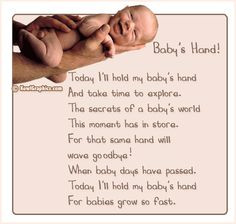 baby quotes | Baby's Hand Poem Graphic | Babies : Baby Poems Graphics ...