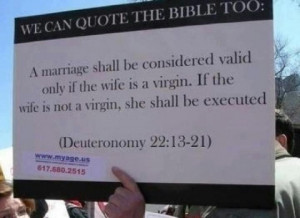 What the bible thinks about marriage. Religious nuttery.