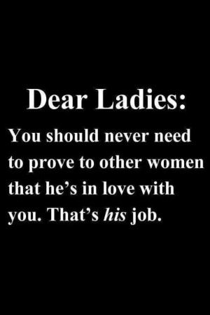 Dear Ladies....