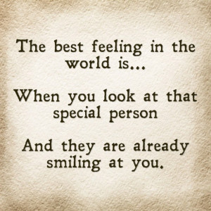 The Best Feeling In the World… (Quote)