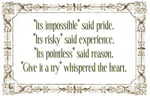 When opportunity knocks .....