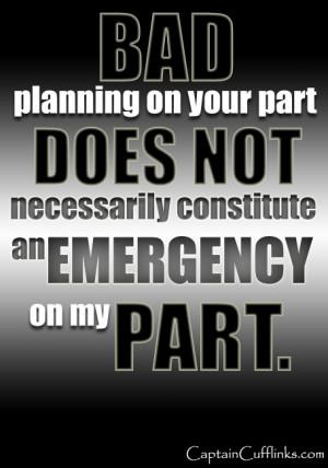Bad planning