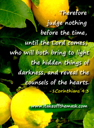 Bible Verses on Judging Others