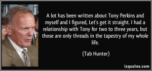 Related Image with Tab Hunter Quote