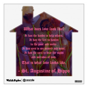 St. Augustine of Hippo Love Quote Wall Graphic