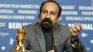 Asghar Farhadi speaks after winning the Golden Bear prize for his film ...