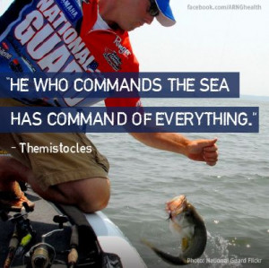 He who commands the sea has command of everything.