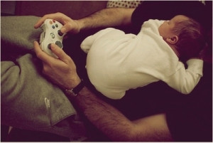 aww, baby, cute, dad, daddy, jensen ackles, sweet, xbox
