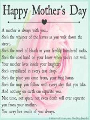 mothers day poems for mothers passed away