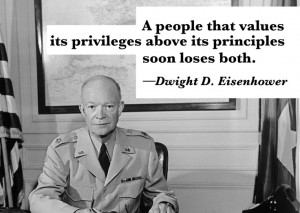... words from Dwight D. Eisenhower. Quote of the Day in 'The War Room