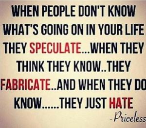 Jealous people....Priceless!