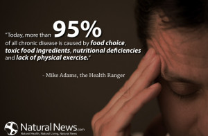 Today, more than 95% of all chronic disease is caused by food choice ...