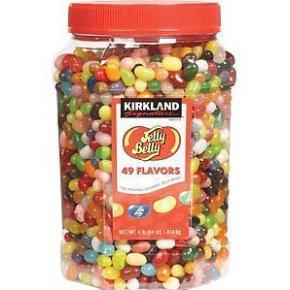 Jelly Belly Bean Bulk Jar 1 8kg 45 flavours Sweets Kirkland Jelly