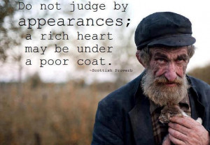 Inspirational Quotes a rich heart may be under a poor coat