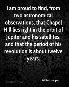 am proud to find, from two astronomical observations, that Chapel ...