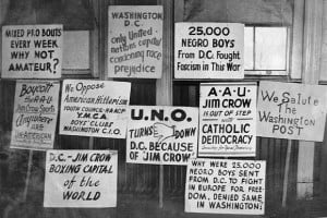 Segregation Protest Signs 1948: picket signs protesting the ...