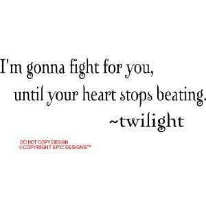 beating twilight cute wall quotes decals sayings vinyl Home & Kitchen