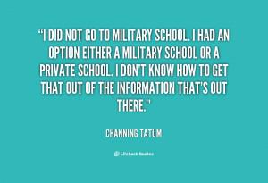 Military School Quotes. QuotesGram