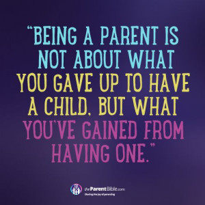 Being A Parent…