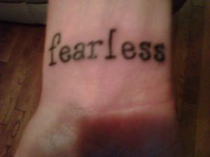 Fearless Wrist Tattoo