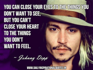 ... Heart To The Things You Don't Want To Feel - Inspirational Quote