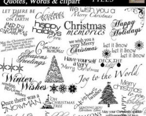 Christmas Word A rt Collection - 30 Quotes, Words and ClipArt- sayings ...