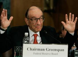 Alan Greenspan testifying on Capitol Hill in 2005 (Mark Wilson/Getty ...