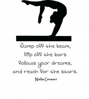 ... Quote   Vinyl Wall Decal   Gymnastics Sticker 22