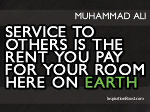 Serve Quotes – Muhammad Ali
