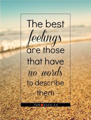 The best feelings quote