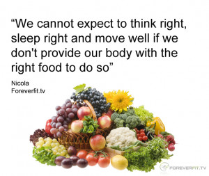 Eating Right Quotes