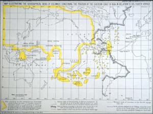 "Behaim Globe showing ""Cipangu"" [Japan] and the Atlantic Ocean (and ..."