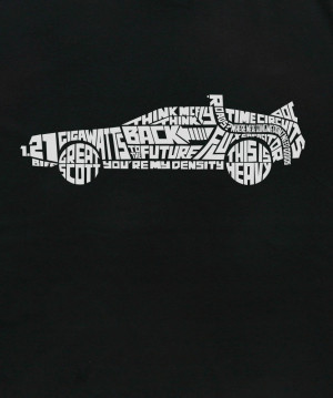 DeLorean Quotes T-Shirt Logo