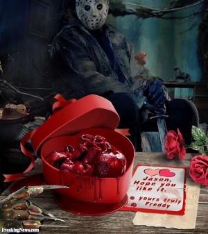 Freddy Krueger Sends Jason a Valentines Heart