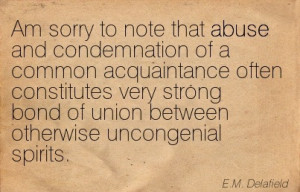 ... Strong Bond Of Union Between Otherwise Uncongenial Spirits. - E.M