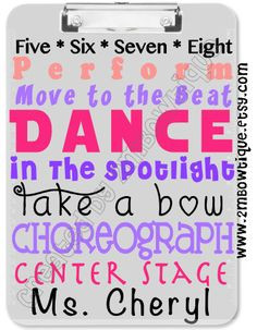 Dance Teacher Gift Idea (Free Printable