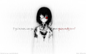 Another Series Mei Misaki Character text quotes wallpaper background