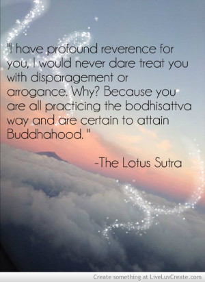 Lotus Sutra Quote