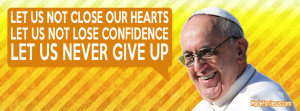 Let Us… Pope Francis Facebook Cover