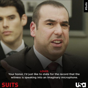 Louis Litt Quotes Louis litt is a shark for detail. via suits