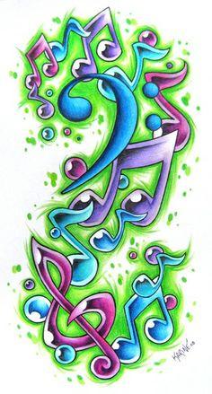 Tattoo sketch, music bubbles #tattoo #tattoossketch #sketch Tattoos ...