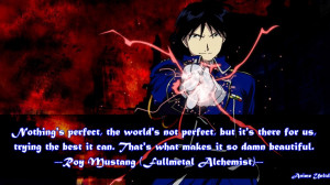 Roy Mustang Fullmetal Alchemist Quotes