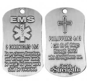 ems dog tag chain necklace