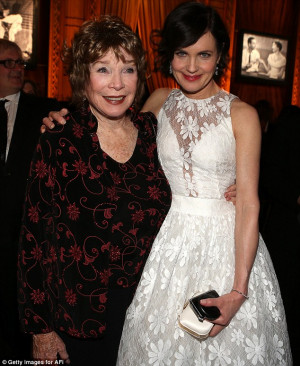 ... : Shirley Maclaine with another Downton co-star Elizabeth McGovern